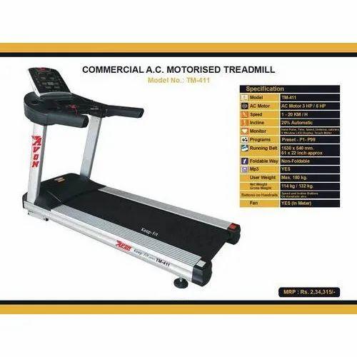 TM 411 Commercial A C Motorised Treadmill