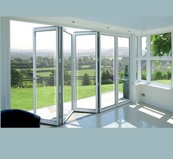Toughened Glass UPVC Folding Door