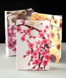 Printed Gift Carry Paper Bag, Capacity: 1-2 Kg