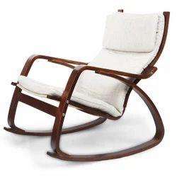 White Wood Armrest Chair