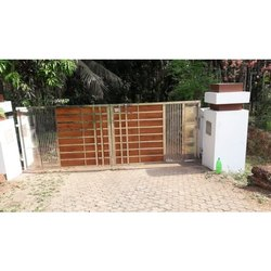 Modern Stainless Steel Automatic Swing Gate