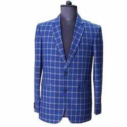 Cotton Casual Wear Mens Regular Fit Checked Blazer