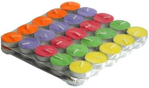 Mutlicolour Tea Light Candle Pack of 50
