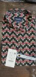 Casual Wear Printed Beyond Blue Mens Shirts, Size: S to XL