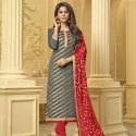 Jacquard Zari Work Dress Material