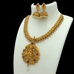 Antique Gold Plated Jewellery Set - D 5018 ANT
