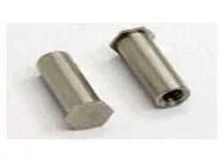 SARVPAR不锈钢支架紧固件,尺寸:10 mm x 10 mm,型号:圆形或十六进制