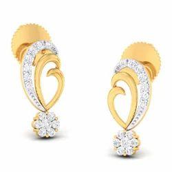 Standard Designed Diamond Gold Earring