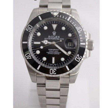 Male Stainless Steel Rolex Submariner Black Dial Steel Automatic