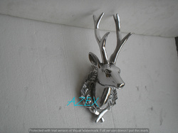 Aluminium Wall Mount Stag Head