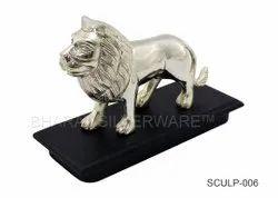 Pure Silver Lion Sculpture