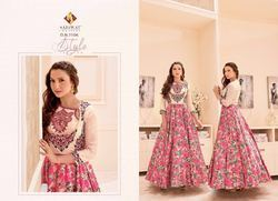 Pink Multi Color Tapeta Silk Designer Suit