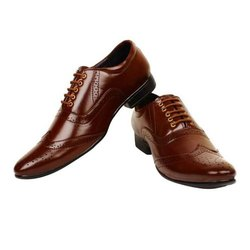 Formal Mens Leather Shoes, Size: 6-12, Packaging Type: Box
