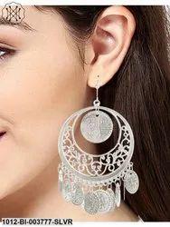 Classic Silver Tone Alloy Dangle Earring