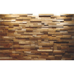 Light Sanded Wooden Wall Panel