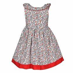 Regular Wear Girls Cotton Frock