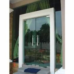 Swing Glass Entry Door, Thickness: 10 Mm