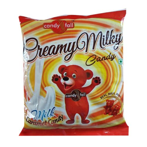 Candyfall Teddy Bear Creamy Milky Candy, Packaging Type: Packet