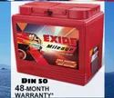 ML DIN50 Exide Car Battery