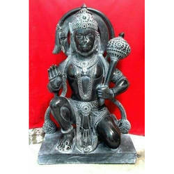 Black Marble Hanuman Statue