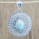 HANDMADE 925 STERLING SILVER JEWELRY TURQUOISE GEMSTONE PENDANT WP-5680