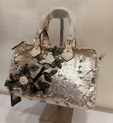 Peach & Silver Sequence Handbag