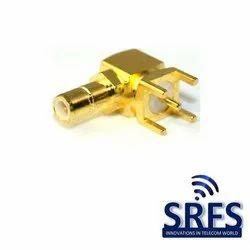SMB Male Right Angle PCB Connector