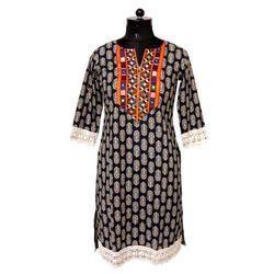 Ladies Cotton Printed Kurti, Size: S, M & L