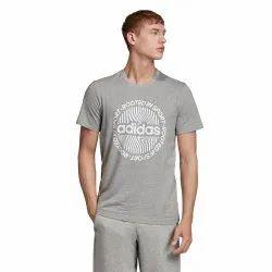 Cotton Adidas Men Graphics T- Shirt