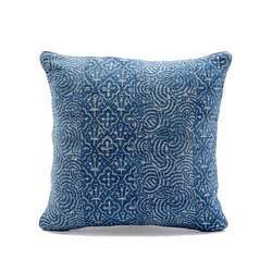 Jaipur Block Printed Indigo Cushion Cover