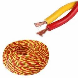 1 sqmm PVC Flexible Twin Twisted Wire, 90m