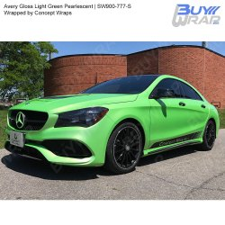 Pearlescent Green Car Wrap