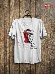 White Cotton Ritwik Ghatak T-Shirt