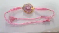 Pink Agate Solar Rakhi