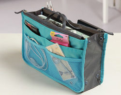 Light Blue Hand Bag Organizer