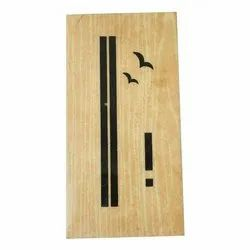 Finishing Hinged Decorative Wooden Door, Thickness: 30-35mm
