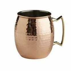 Hammered Bitten Moscow Mule Copper Mug