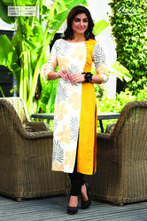 Printed Long Straight Kurti