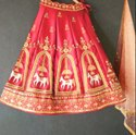 Designer Wedding Wear Tapeta Silk Lehenga