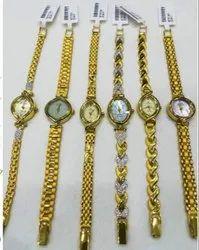 Ladies Wrist Watch Pure Gold Watches