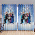 Trendy Cartoon Digital Curtain