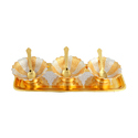 Designer Silver & Gold Plated Bowl Set