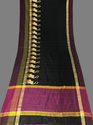 Flaming Raw Silk Embroidery Work Saree
