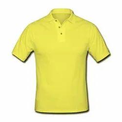 Cotton Unisex Collar T Shirt