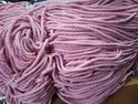 Pink Coloured Macrame Cord, For Wall Hanging, Packaging Type: Hank