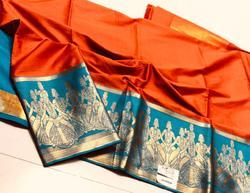Pramukh Hand Block Prints Pure Silk Cotton Saree, Machine Made, 5.5 m (separate blouse piece)
