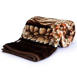 Floral Designer Double Bed Mink Blanket 220