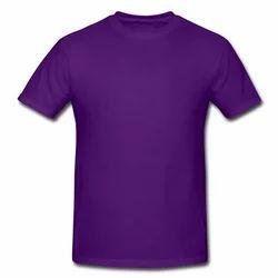 Cotton Purple Men's Plain T Shirt