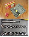 Rubber Foldable Screwdriver Tool Kit and Socket Set, 41 Pieces, Multicolour-41_SCREWDRIVER