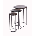 Iron Round Stool  Set of Three